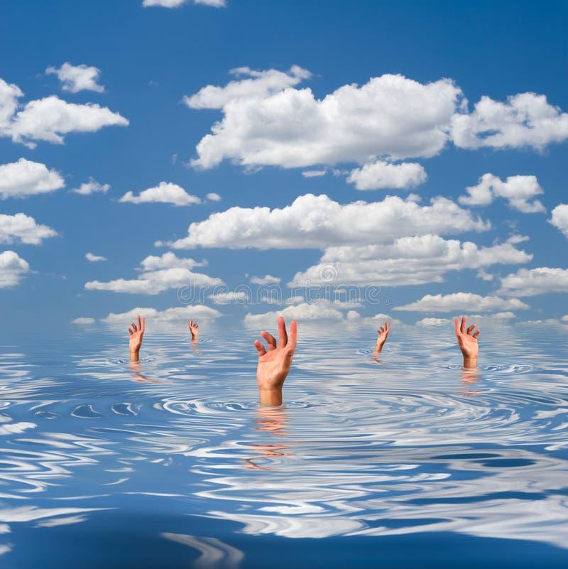 淹没 免版税库存图片