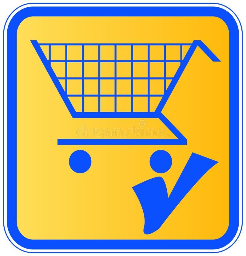 添加购物车 向量例证