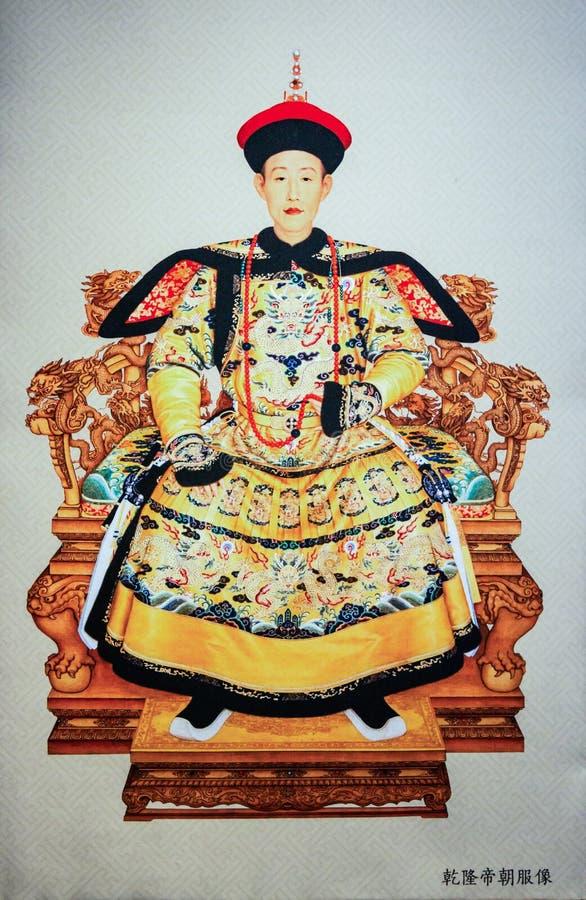 清代的皇帝乾隆和女王/王后在中国 图库摄影