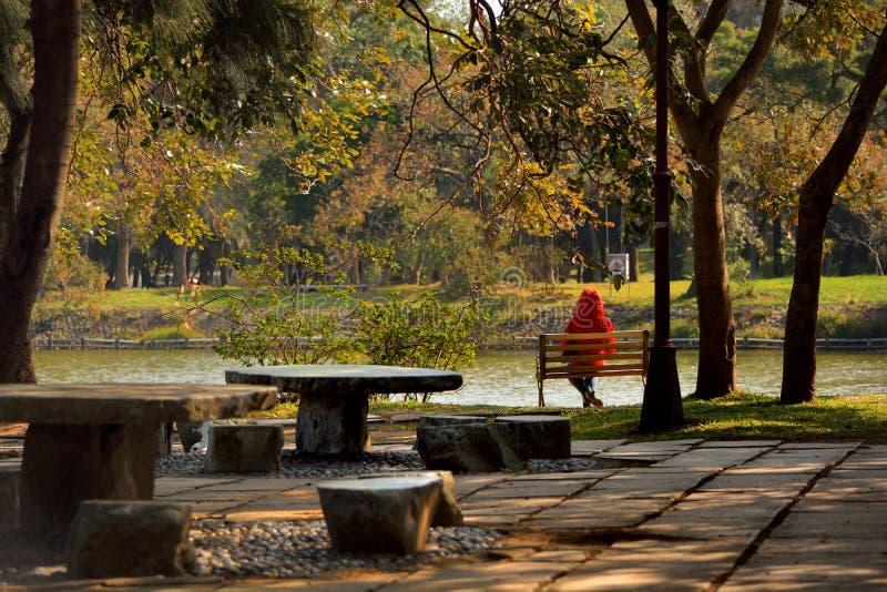 清华大学校园风景在新竹,台湾 库存图片