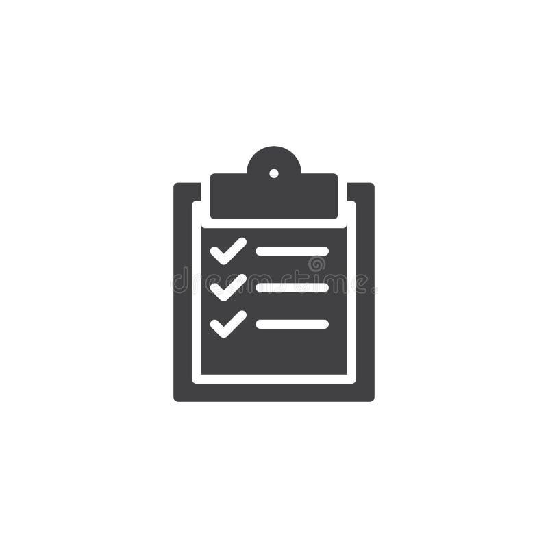 清单剪贴板传染媒介象 库存例证