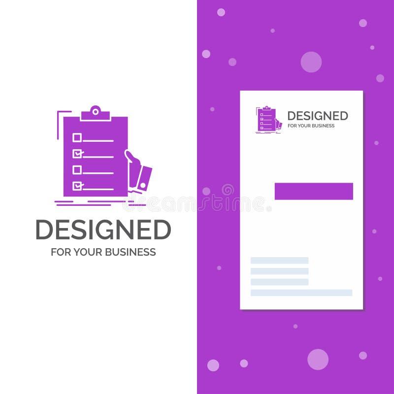 清单的,检查,专门技术,名单,剪贴板企业商标 r r 库存例证
