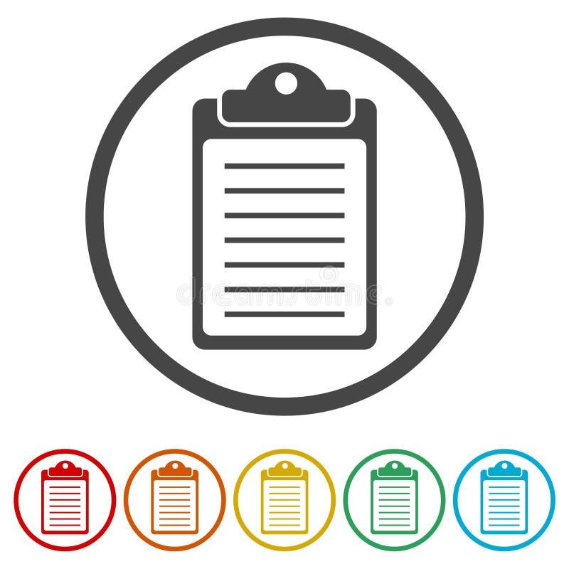 清单象,包括的6种颜色 向量例证