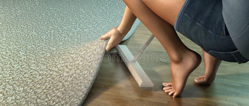 清扫在地毯下 库存例证