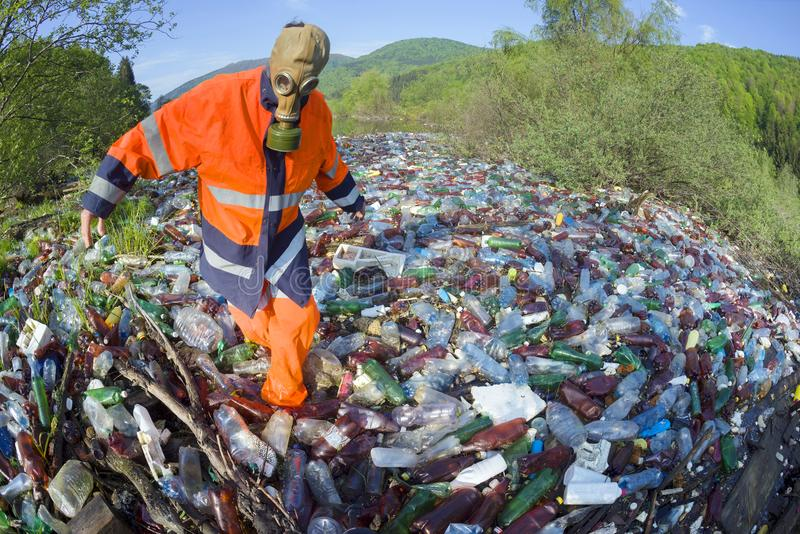 清扫残骸河的特别行动  库存照片