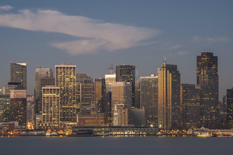 清早光的1街市旧金山 库存照片
