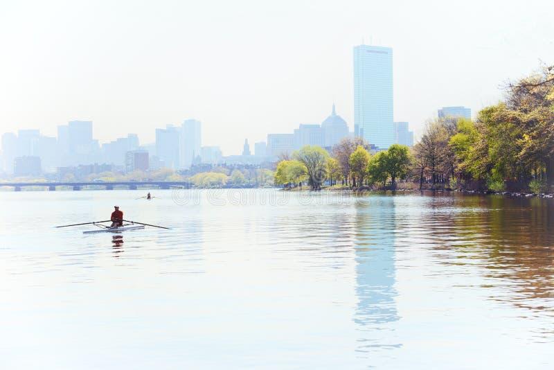 清早在波士顿 免版税库存图片