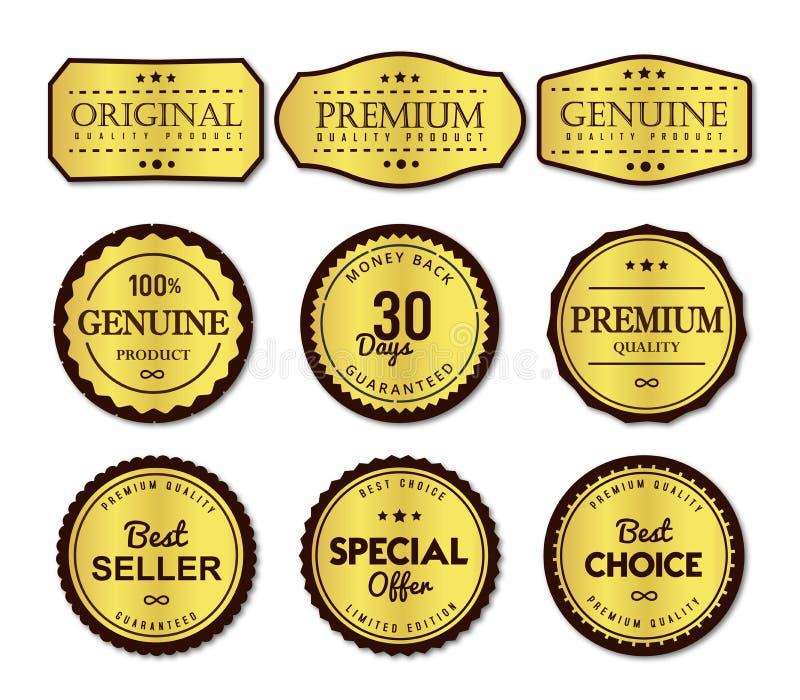 清楚优质的标号组简单和 库存例证