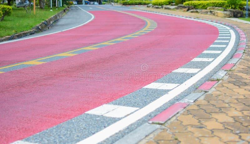 清楚的可见性的红色路 库存图片