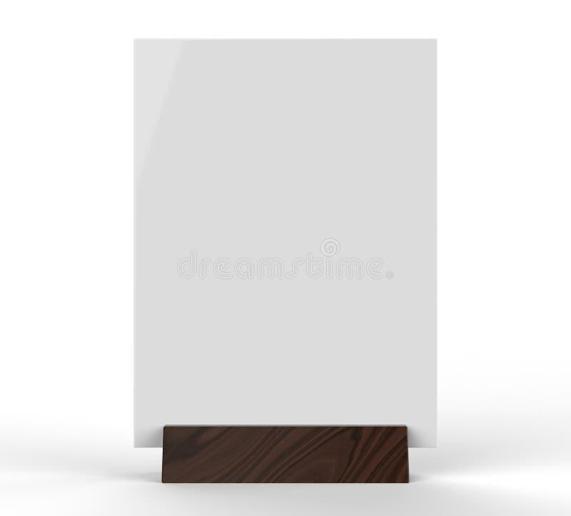 清楚的塑料和丙烯酸酯的桌健谈的人增进挺直菜单制表帐篷顶面标志持有人桌菜单卡片陈列台图片 库存照片