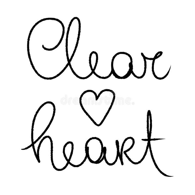 清楚的心脏 在白色查出的向量 黑色重点例证 爱社会媒介内容的,婚姻的邀请心脏卡片 库存例证