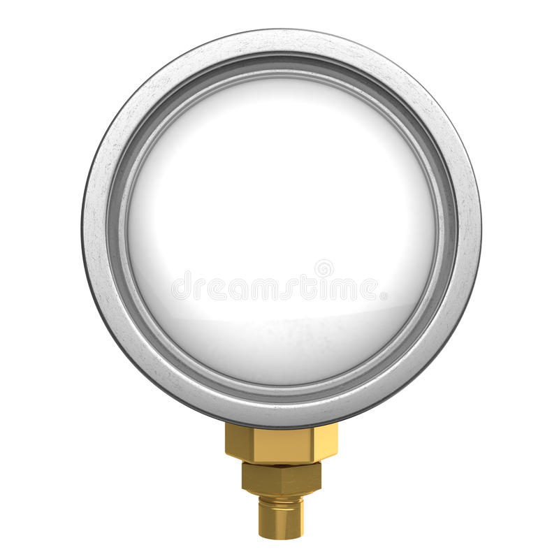 清楚的测量仪模板 向量例证