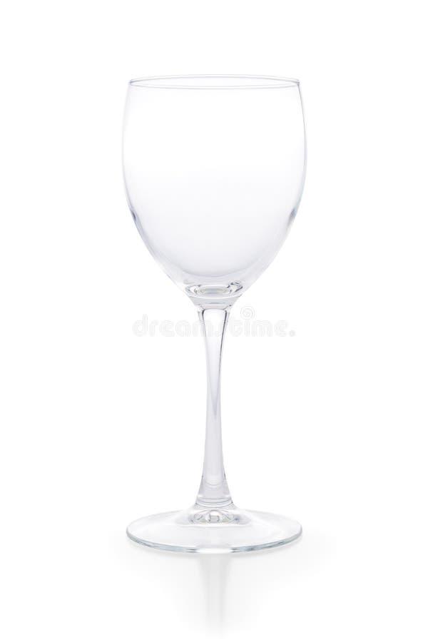 清楚的空的酒杯隔绝与裁减路线 免版税库存照片