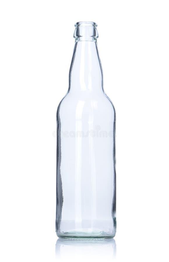 清楚的空的玻璃瓶 图库摄影