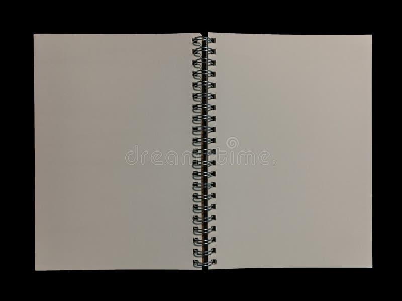 清楚的颜色笔记本为笔记或演讲笔记或备忘录fo打开了 库存图片