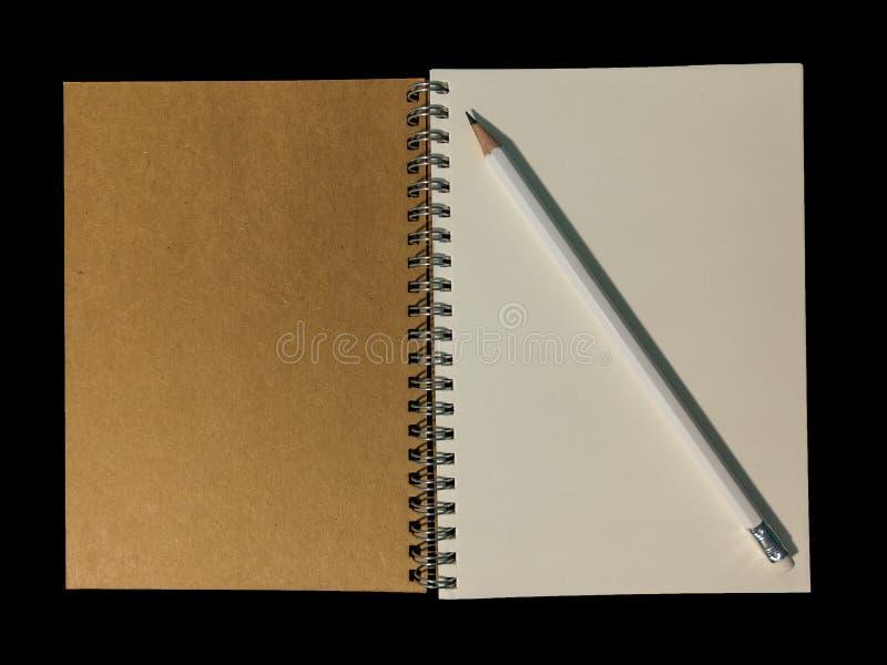清楚的颜色笔记本为笔记或演讲笔记或备忘录fo打开了 免版税库存照片