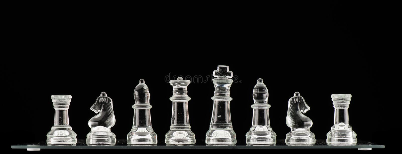 清楚的玻璃棋子 库存图片