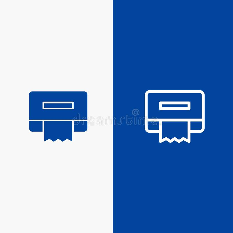 清洁、纸、组织线和纵的沟纹坚实象蓝色旗和纵的沟纹坚实象蓝色横幅 向量例证