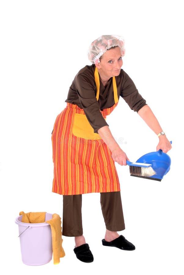 清洁主妇 免版税图库摄影