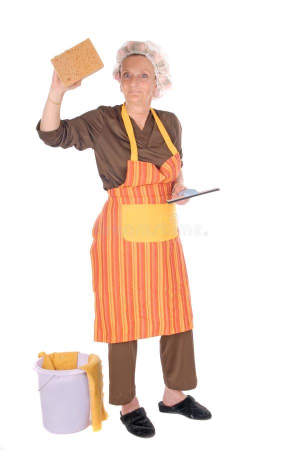 清洁主妇 免版税库存图片