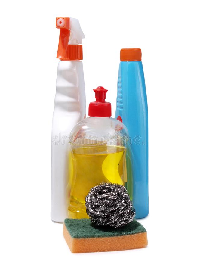 清洁产品三 免版税图库摄影