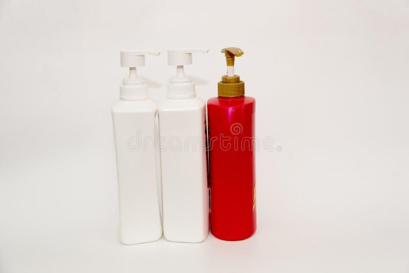 清洁产品的塑料瓶 免版税图库摄影