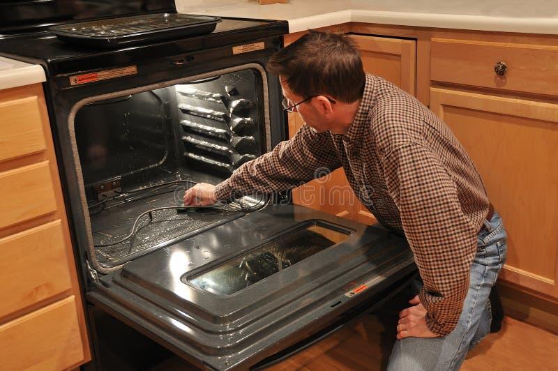 清洁人烤箱 免版税库存图片
