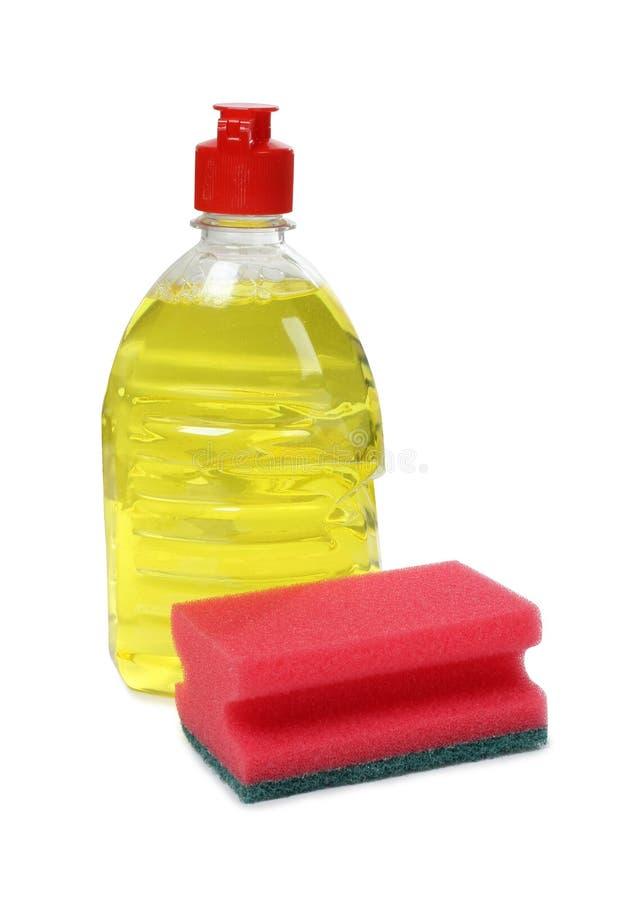 清洁化学制品七 库存照片