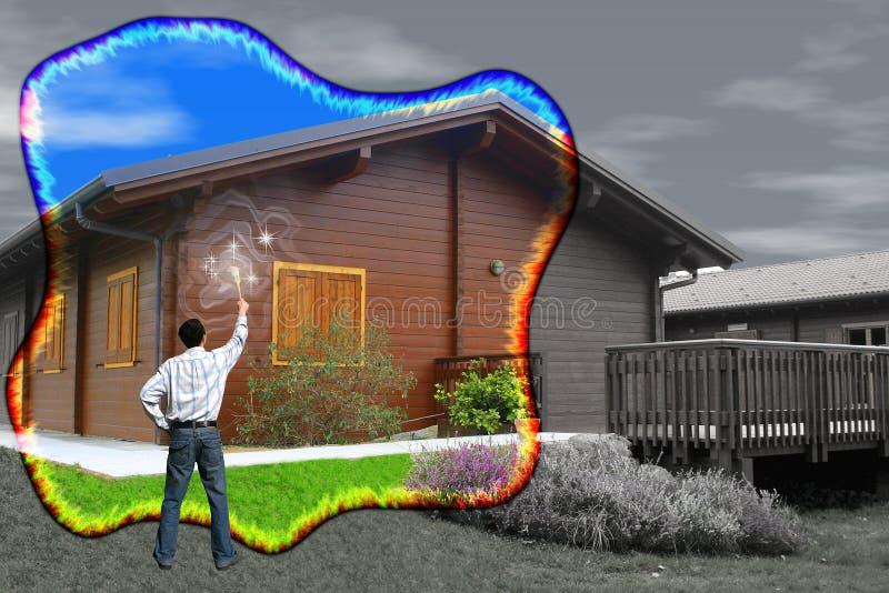 清洁家庭魔术 免版税库存图片