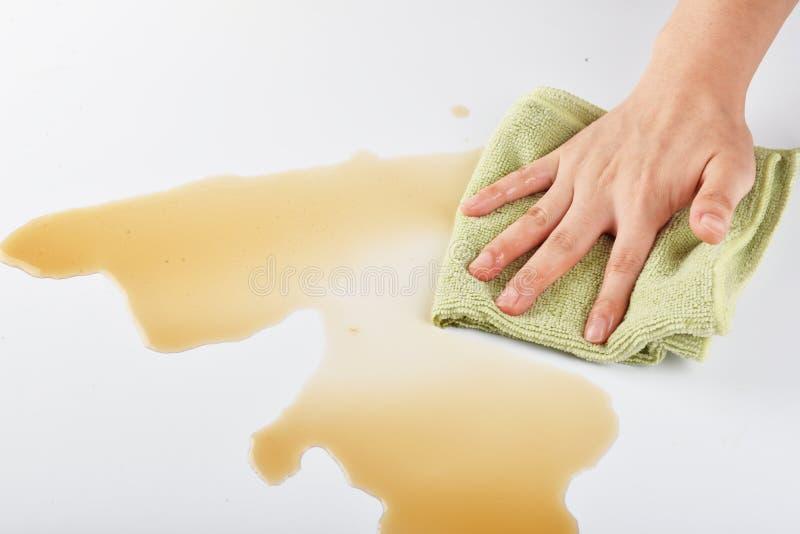 清洁布厨房清洁布汽车清洁家庭清洁洗碗布 免版税库存照片