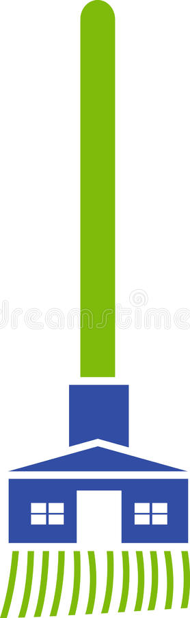清洁徽标 向量例证
