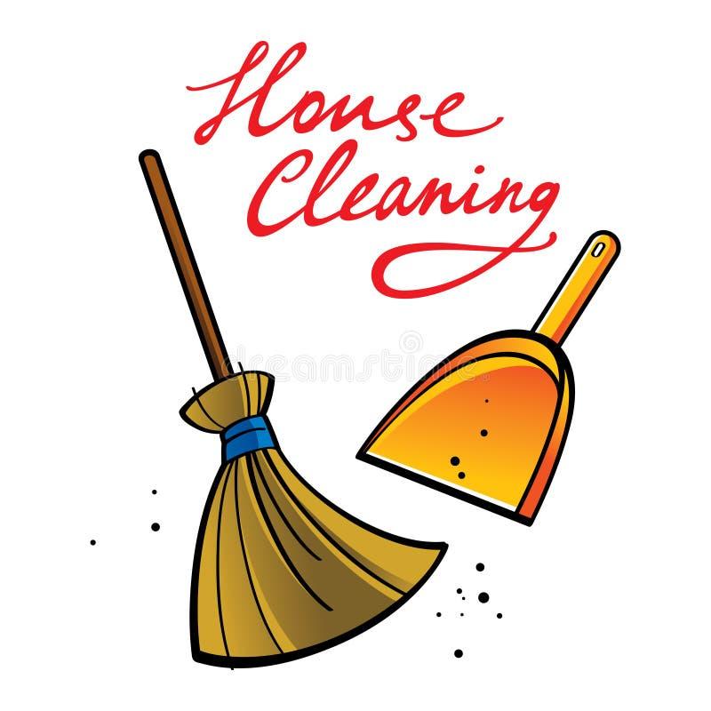 清洁房子 皇族释放例证