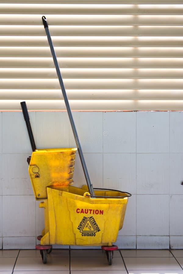 清洁楼层工具 库存照片
