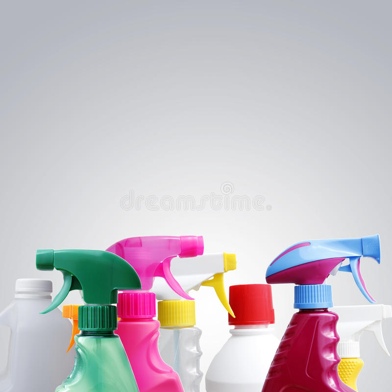 清洁瓶 免版税库存图片
