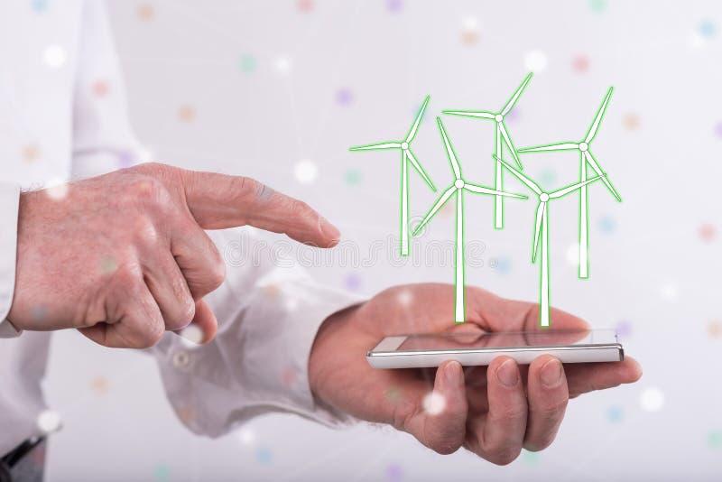 清洁能源的概念 库存图片