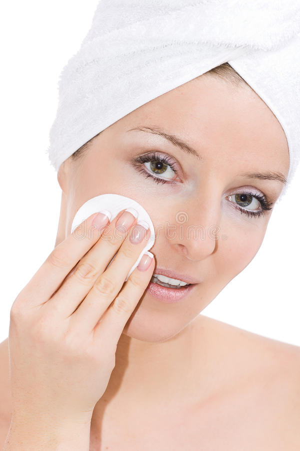 清洁表面妇女 免版税库存图片