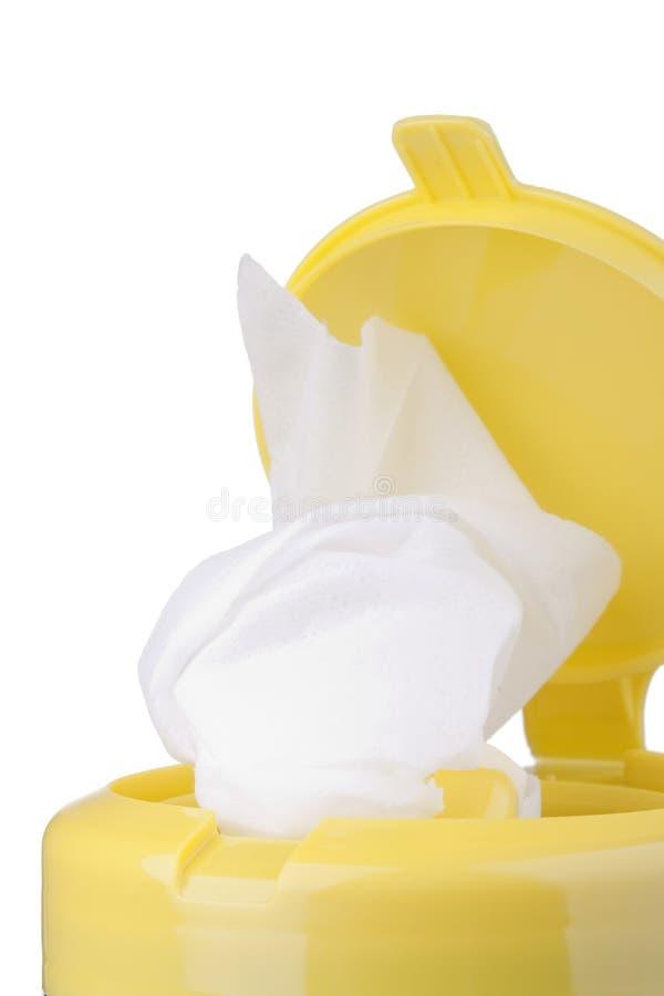 清洁餐巾 库存图片