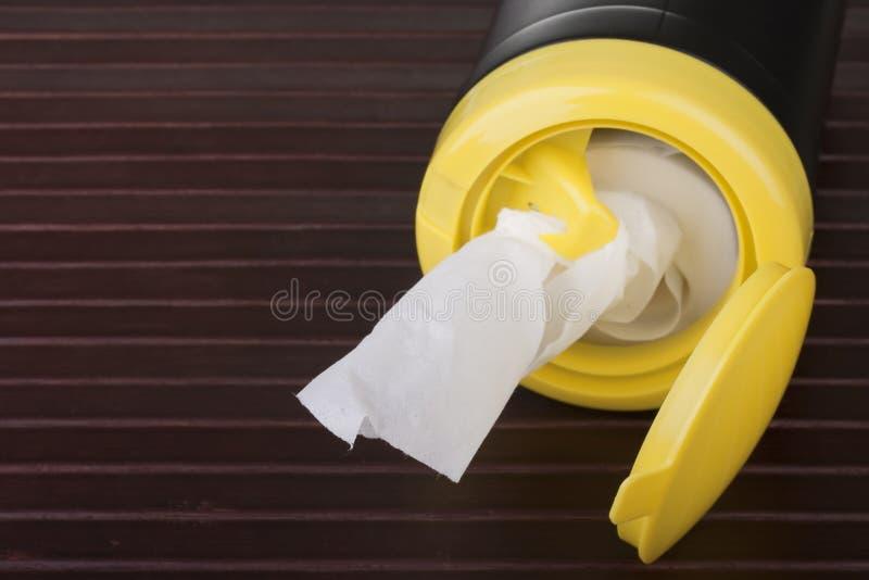 清洁餐巾 免版税库存图片