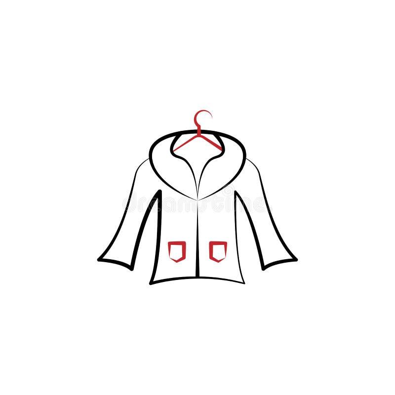 清洁,外套,干燥,毛皮2种族分界线象 简单的色素例证 清洁,外套,干燥,毛皮概述标志设计 皇族释放例证