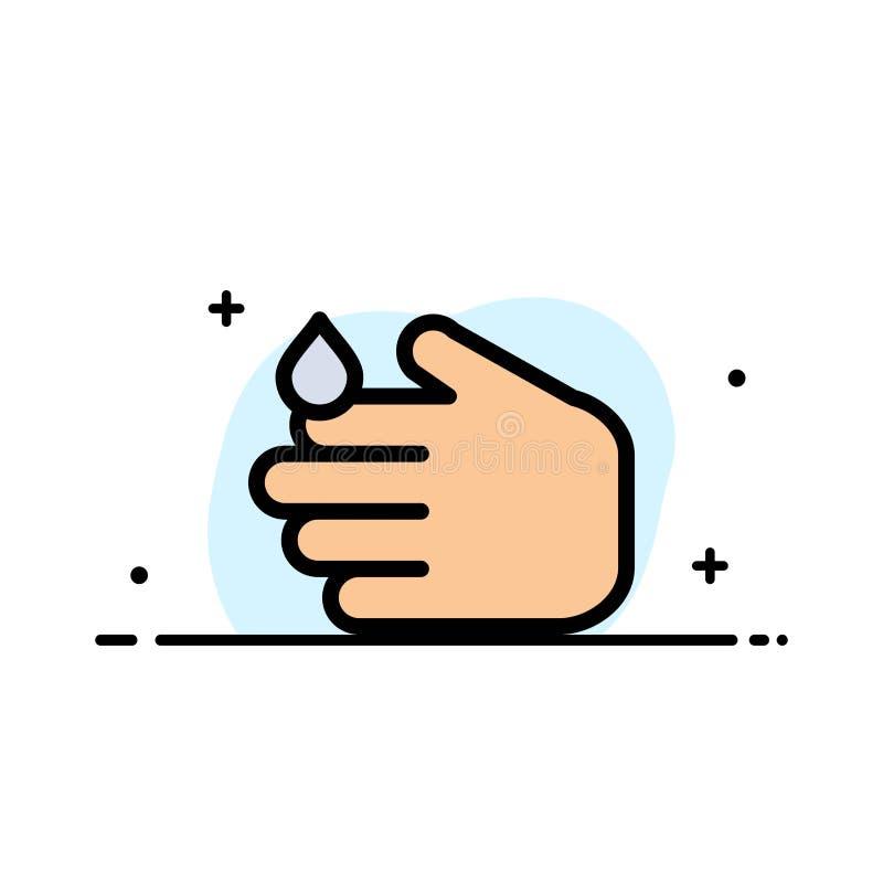 清洁,手,肥皂,华盛顿州企业平的线填装了象传染媒介横幅模板 皇族释放例证