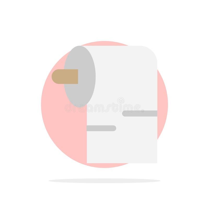 清洁,纸,组织摘要圈子背景平的颜色象 库存例证