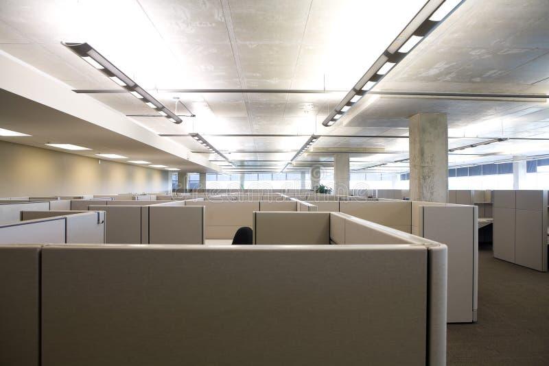 清洗小卧室现代办公室 免版税库存照片