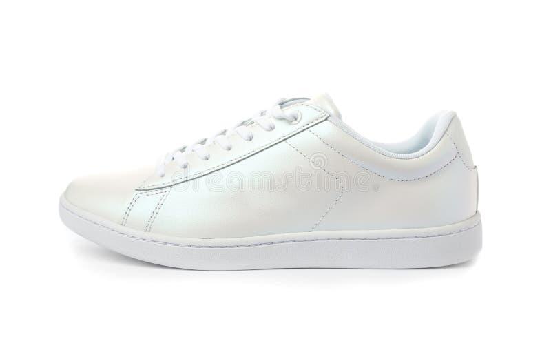 清洗新的时髦运动鞋 免版税库存照片