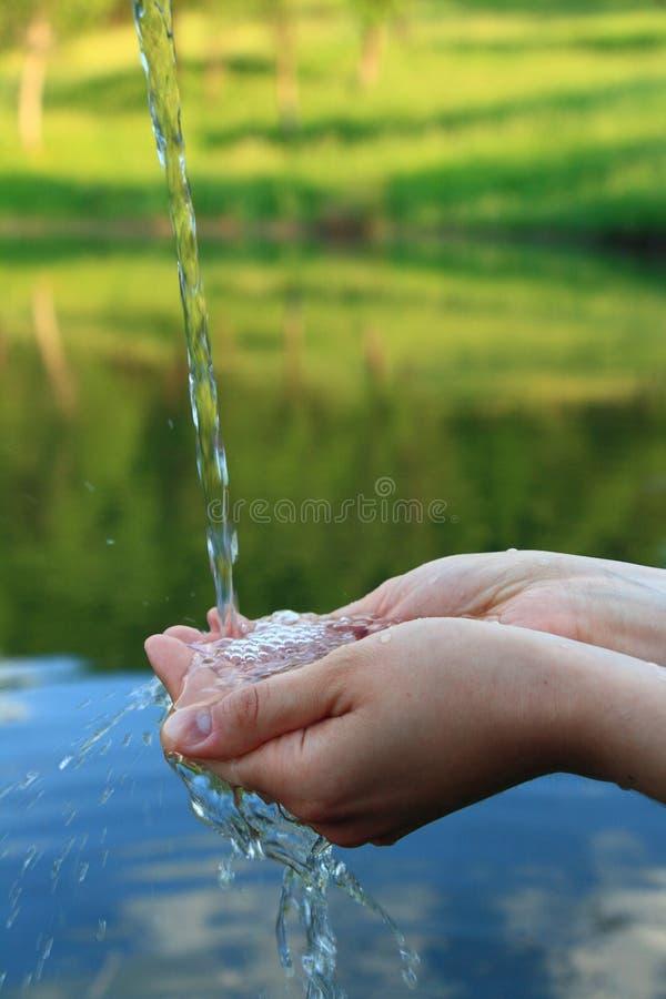 清洗概念水 免版税库存图片