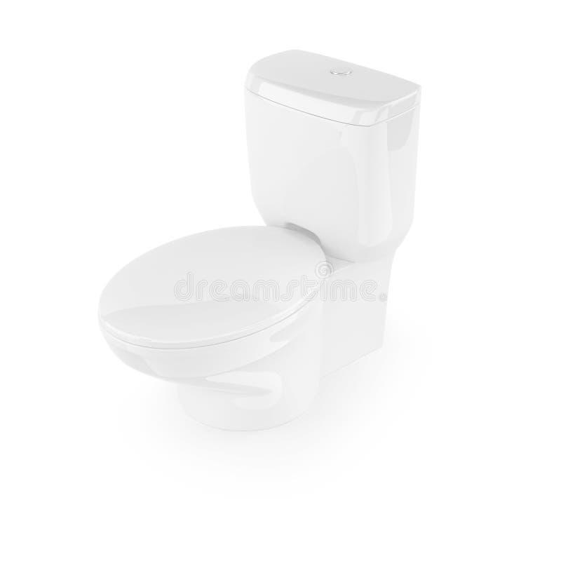 清洗洗手间白色 库存例证