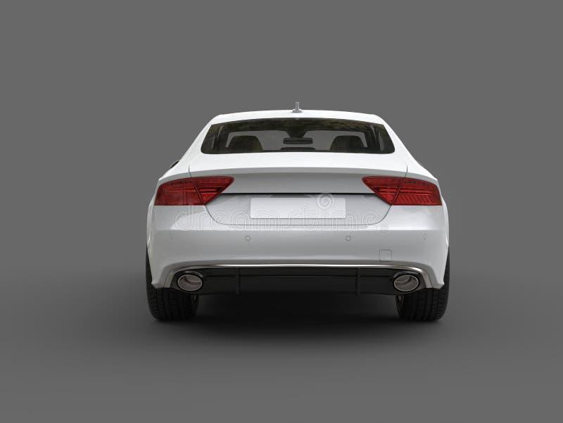 清洗现代白色企业车的后面视图 向量例证