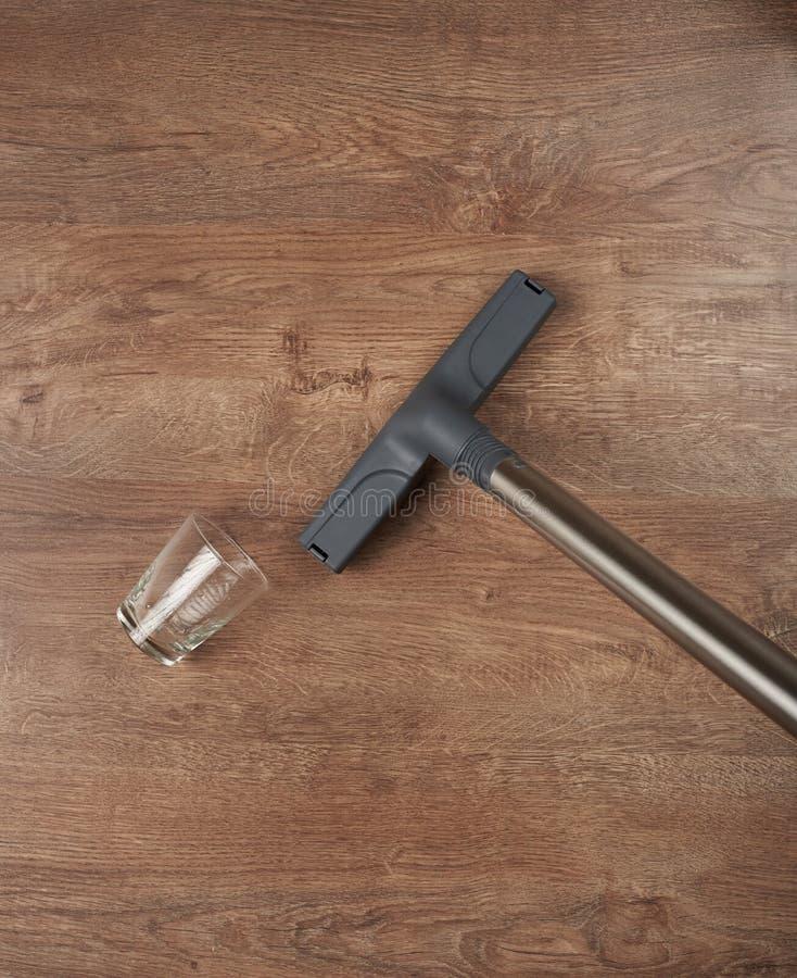 清洗的木楼层 库存照片
