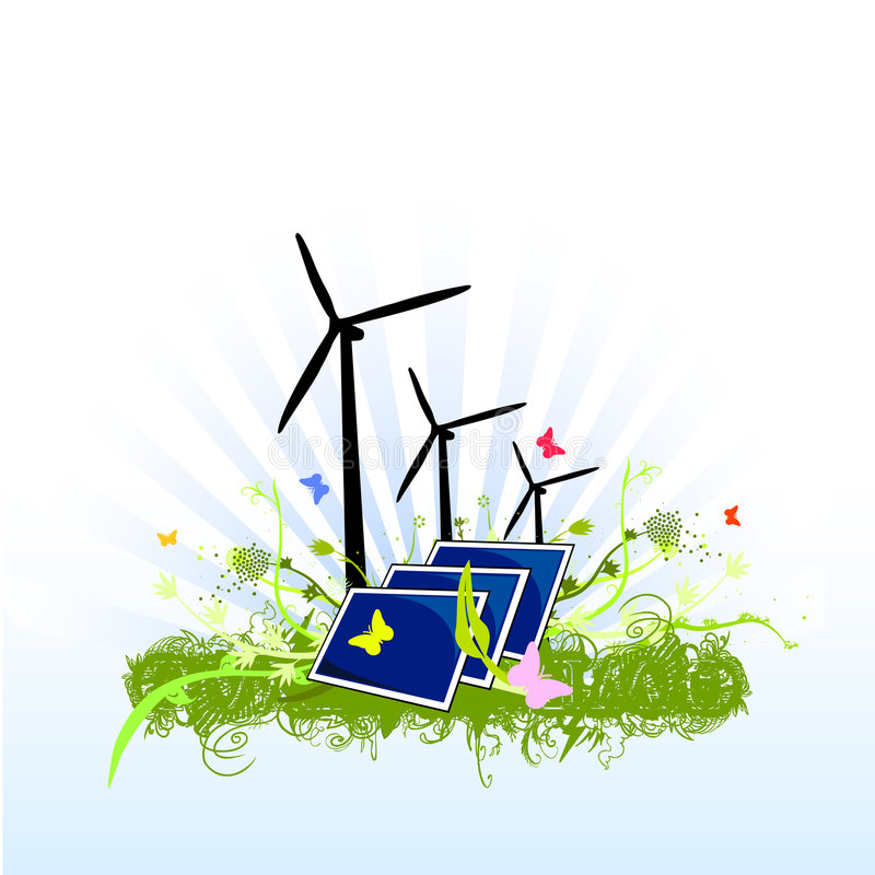 清洗能承受设计的能源 向量例证