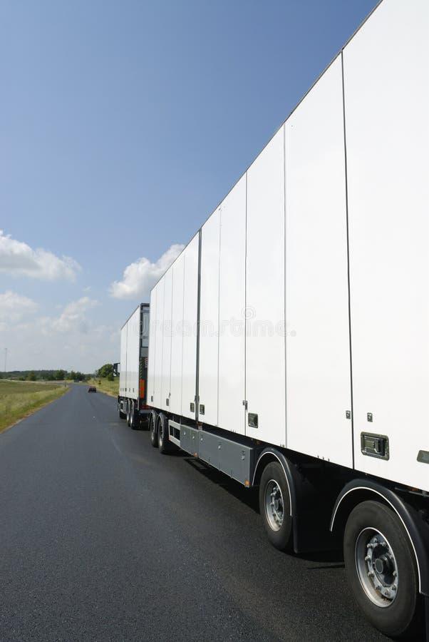 清洗配置文件卡车白色 库存图片