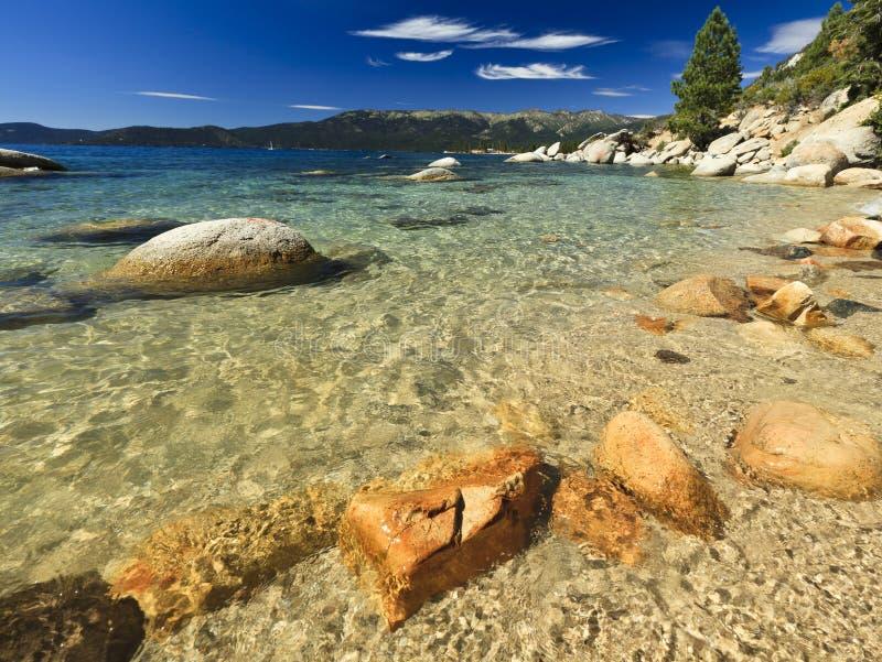 清洗Tahoe湖美国水 免版税库存照片